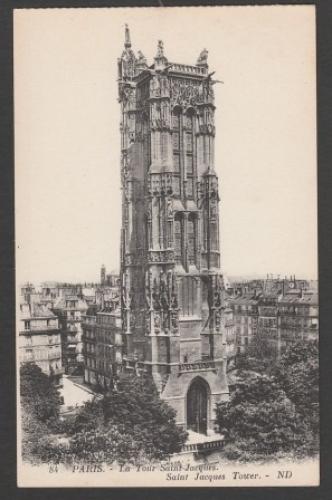 CPA PARIS - LA TOUR SAINT JACQUES