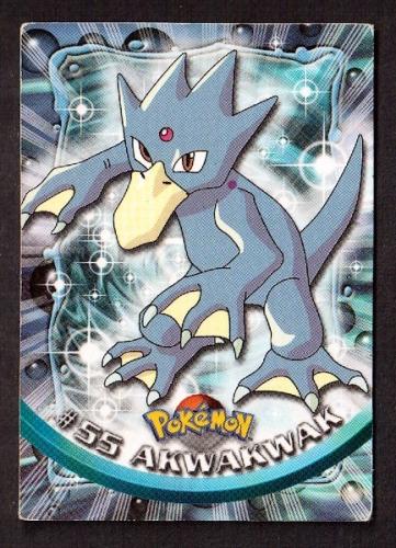 Carte Pokemon 55 Akwakwak type Eau TOPPS 1995-96-98 Editeur Nintendo