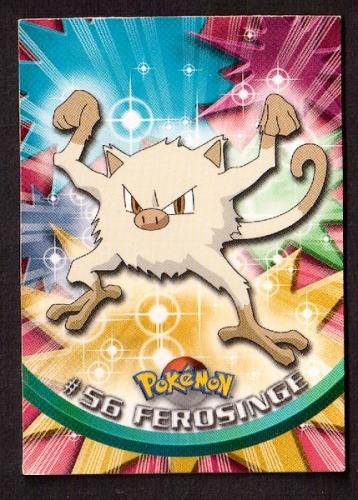 Carte Pokemon 56 Férosinge type Combat TOPPS 1995-96-98 Editeur Nintendo