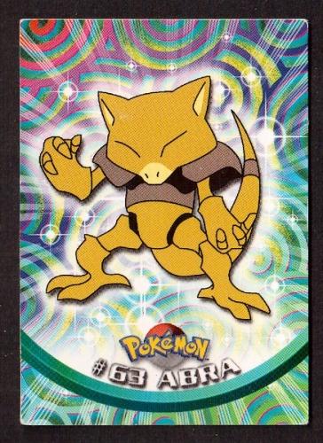 Carte Pokemon 63 Abra type Psy TOPPS 1995-96-98 Editeur Nintendo