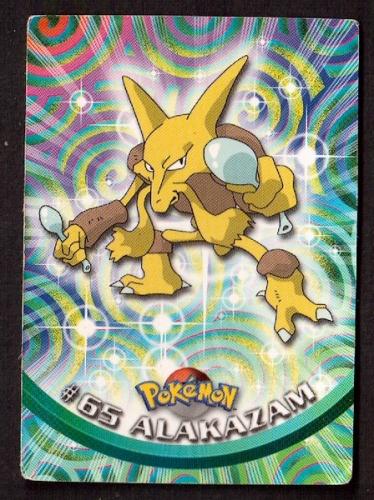 Carte Pokemon 65 Alakazam type Psy TOPPS 1995-96-98 Editeur Nintendo