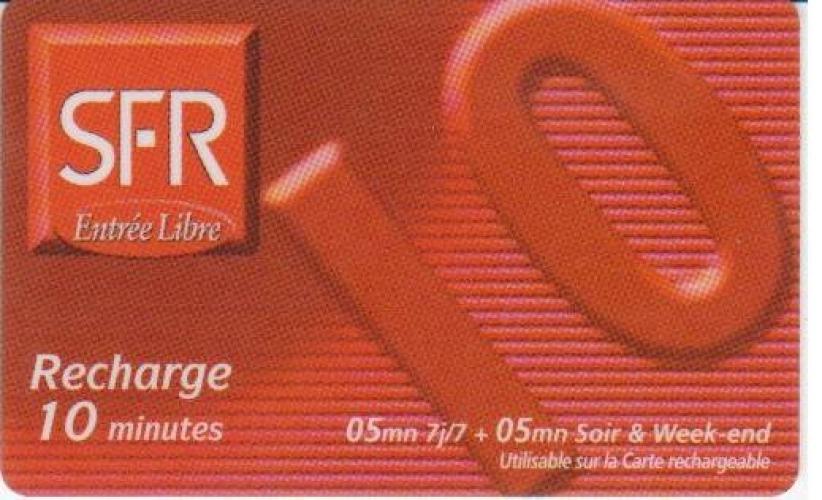 RECHARGE  SFR   REUNION   N° LC/R    PU  4
