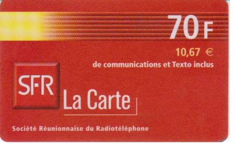 RECHARGE  SFR   REUNION   N° LC/R    PU    10