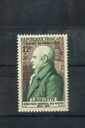 France  969 Journée du timbre 22 % Lavalette 1954 neuf ** TB MNH SIN CHARNELA cote 5.5