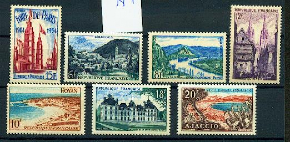 France  975 981 sites et Monuments et foire de Paris 22 % 1954 neuf ** TB MNH sin charnela cote 10
