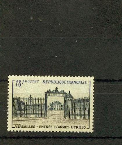 France  988 Château de versailles grilles 22% 1954 neuf ** TB MNH sin charnela cote 11