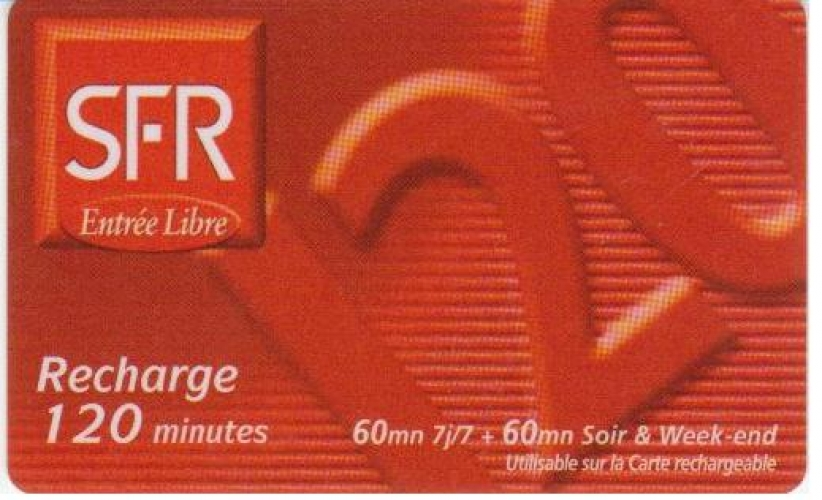 RECHARGE  SFR   REUNION   N° LC/R    PU  7