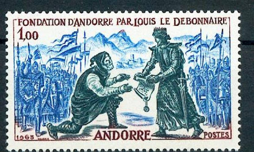 Andorre 169 Louis le débonnaire neuf** TB MNH sin charnela cote 18.5 euros
