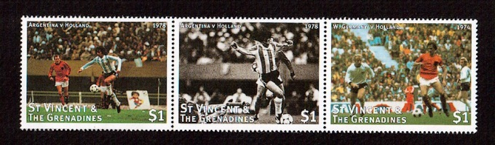 St.Vincent et Grenadines football - 1974 - Germany- Holland - 1978 - Argentina - Holland
