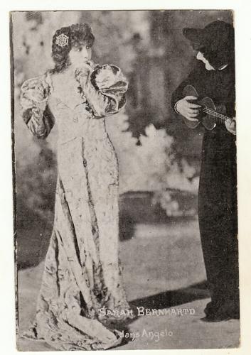 Cpa  Sarah Bernhard ( Bernhardt ! ) dans Angelico
