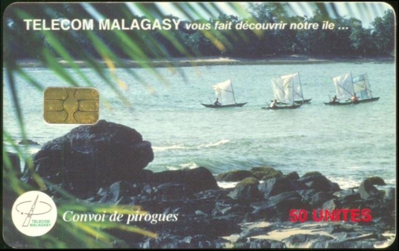 Madagascar télécarte usée