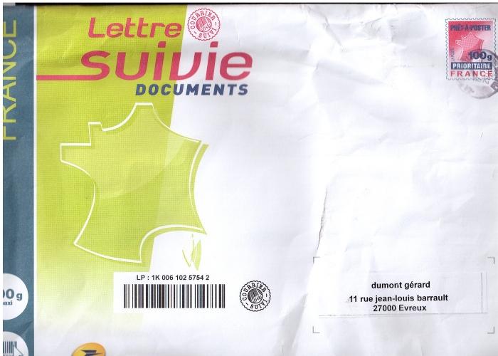 lettre suivie 100g France Lettre Suivie Documents Prêt à Poster prioritaire 100g  lettre suivie 100g