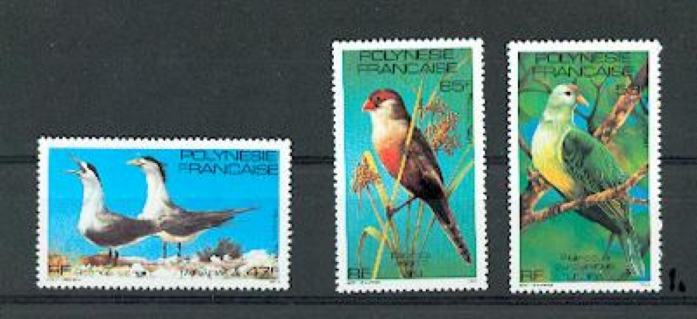 Polynésie 168 170 1981 oiseaux gomme tropicale neuf ** Tb MNH , sin charnela cote 6.3 euros