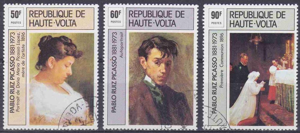 HAUTE VOLTA 1975 OBLITERE N° 361 à 363