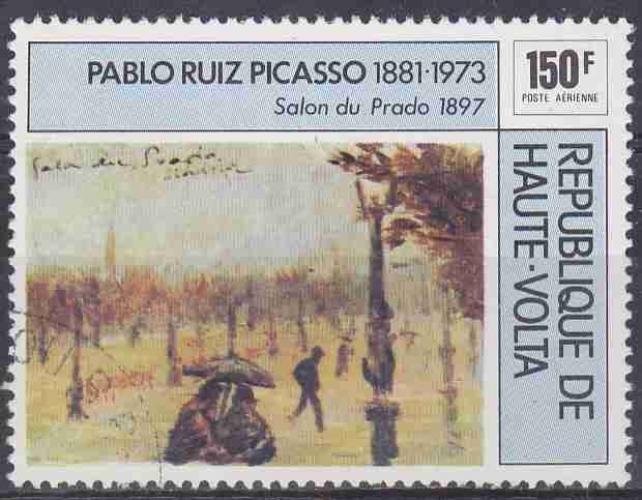 HAUTE VOLTA 1975 OBLITERE poste aérienne N° 196