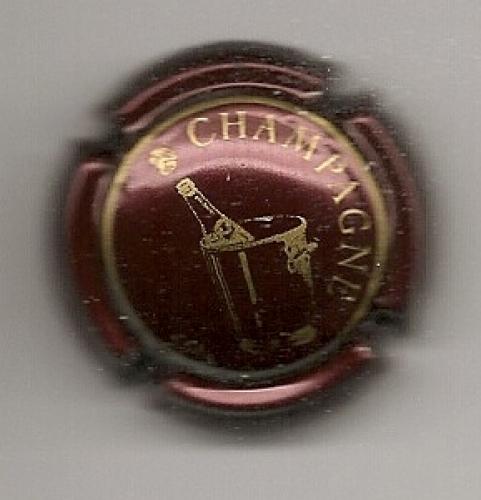 Capsule de champagne bouteille dans seau cm fond lie de for Porte seau a champagne