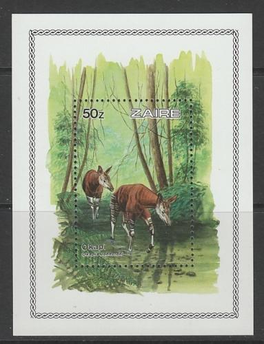 BLOC NEUF DU ZAIRE - OKAPI : OKAPIA JOHNSTONI N° Y&T 35