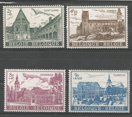 Belgique - 1973 - Abbayes - Tp n° 1662 / 5  - Neuf **