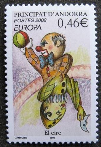 Andorre 569 2002 europa le cirque neuf ** luxe MNH SIN CHARNELA prix de la poste 0.46