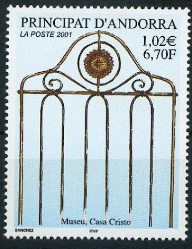 Andorre 541 musée casa Cristo 2001 neuf ** luxe MNH SIN CHARNELA faciale 1.02