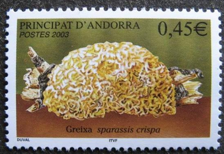 Andorre 584 champignon 2003 neuf ** luxe MNH SIN CHARNELA prix de la poste 0.45