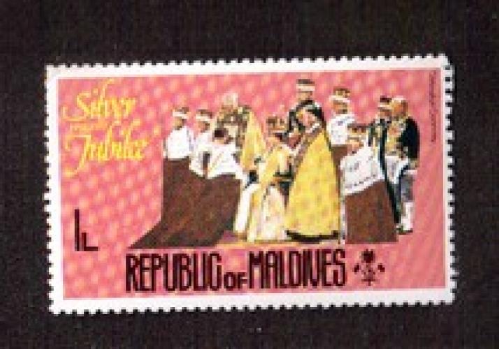 Maldives 1977 Y&T 624 ** Silver Jubile coronation ceremony