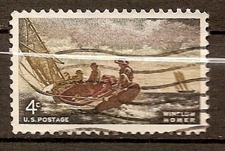 USA 1962 YT 742  Obl Peinture Le vent se leve de Winslow Horner
