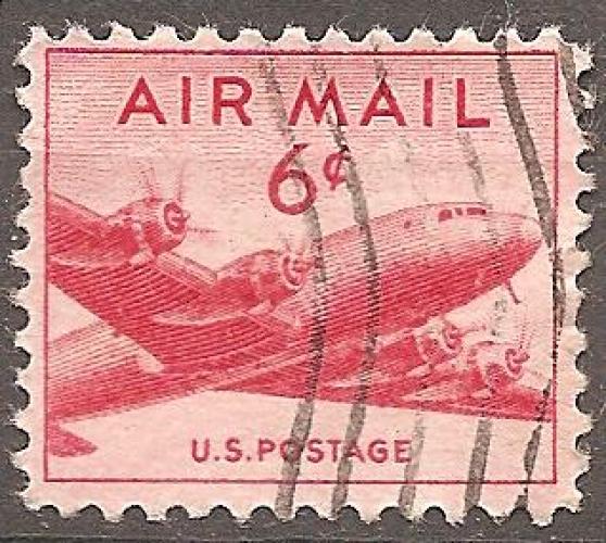 USA 1947-49 YT PA 35 Obl Avion Douglas DC4