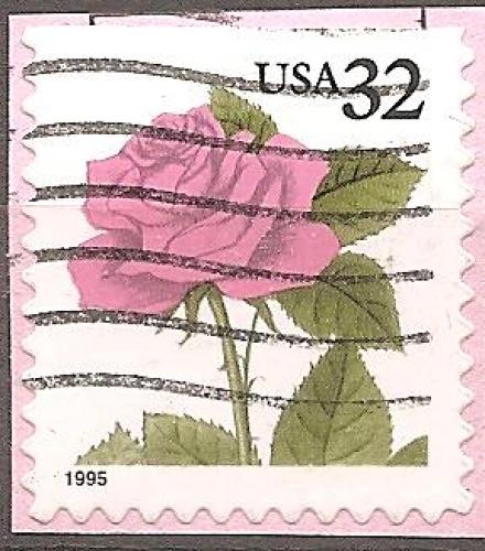 USA 1995 YT 2341 Obl Fleur rose
