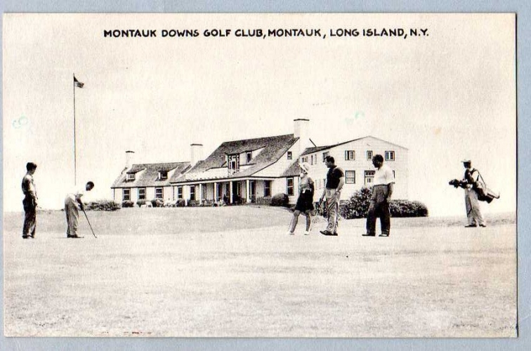 GOLF - USA - Montauk Downs Golf Club - Long Osland N.Y. - Timbre Blanche Stuart Scott Pilot Aviation