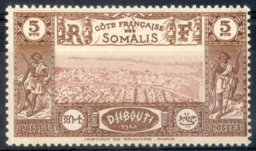 COTE DES SOMALIS  _  Y & T  :  N°  167  **   -   Cote  :   3,30  €
