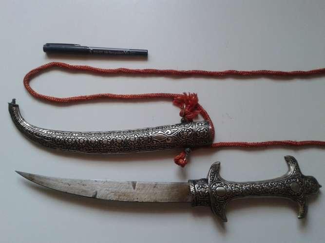 Superbe poignard origine turque utilisé autrefois dans l'armée marocaine
