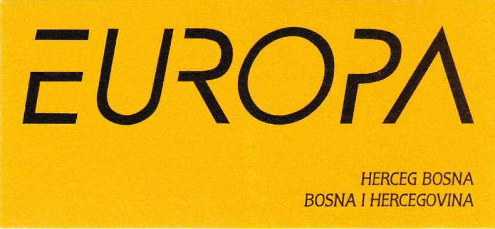 Bosnie-Herzégovine (Herceg Bosna) 1996 Europa - Femmes célèbres (carnet)