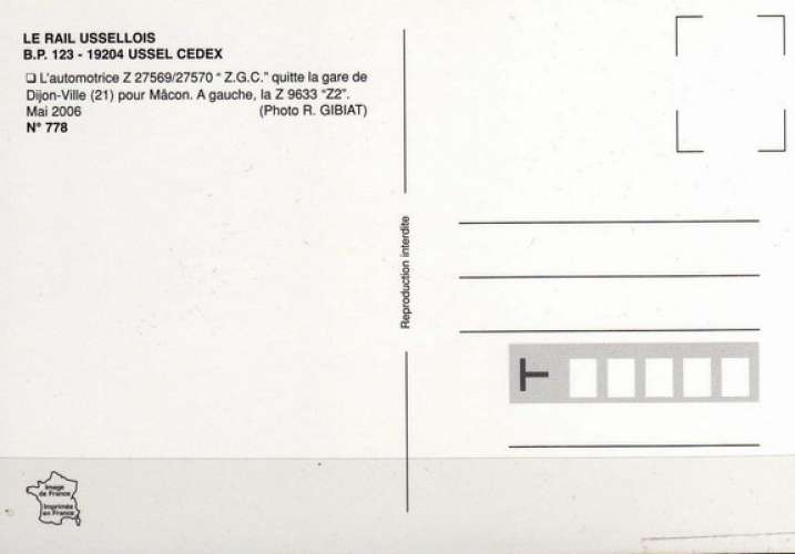 RU 0778 - Automotrice Z 27570 en gare - DIJON - Côtes d'Or 21 - SNCF