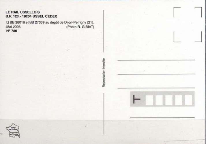 RU 0780 - Locos BB 36016 et BB 27039 au dépôt - DIJON PERIGNY - Côte d'Or 21 - SNCF