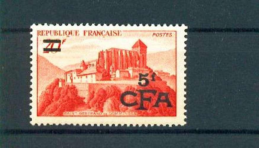 Réunion CFA 298 1/4 de cote comminges neuf ** Tb MNH SIN CHARNELA cote 12 euros