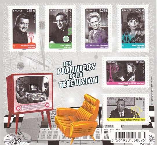 France 4811 4816 pionniers de la télé feuillet 2013 neuf **TB MNH sin charnela prix de la poste 3.48