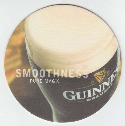 SOUS-BOCK GUINNESS SMOOTHNESS PURE MAGIC (2 VUES)