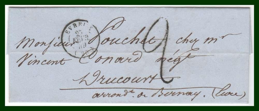 EVREUX (26) T15 + TT2 du 27/2/1849 pour Drucourt