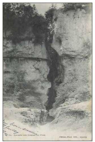 Cpa 74 Annecy , entrée des gorges du fier , voyagée 1904 dos non divisé