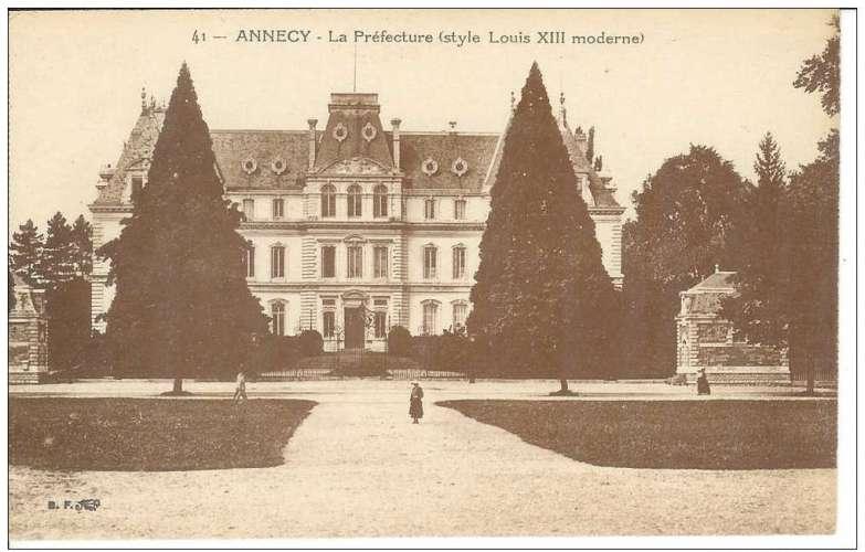 Cpa 74 Annecy , la préfecture , vierge