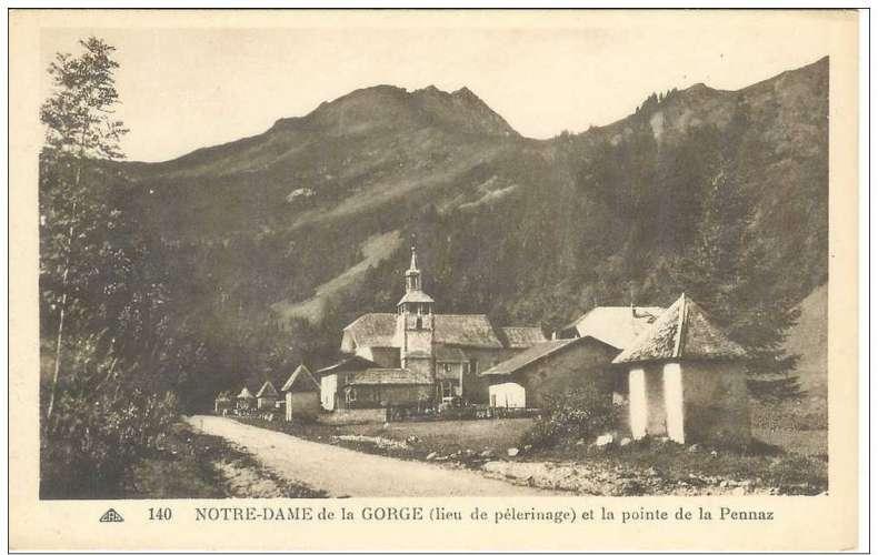 Cpa 74 Contamines-Monjoie , la chapelle de notre dame de la gorge , vierge