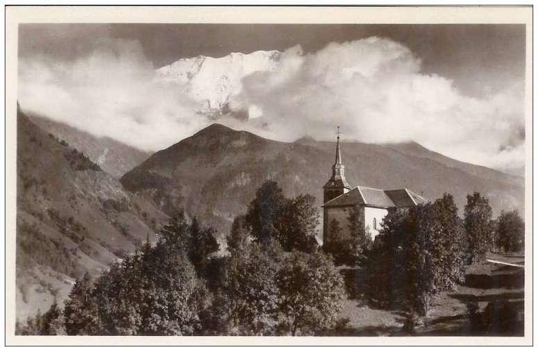 Cpa 74 Saint Gervais les bains , église saint nicolas de Véroce, vierge