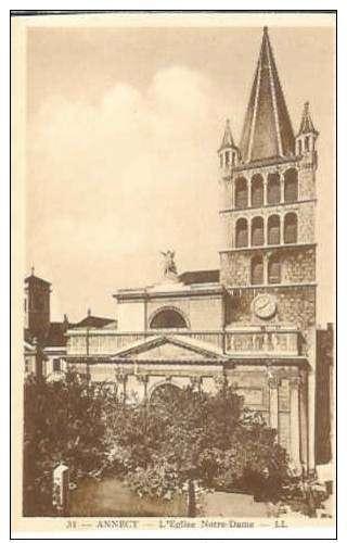 Cpa 74 Annecy , l'église notre dame , vierge