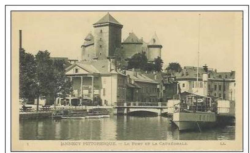 Cpa 74 Annecy , le port et la cathédrale , vierge