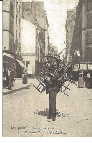 75 - PARIS  - LES VIEUX METIERS PARISIENS - LE REMPAILLEUR DE CHAISE