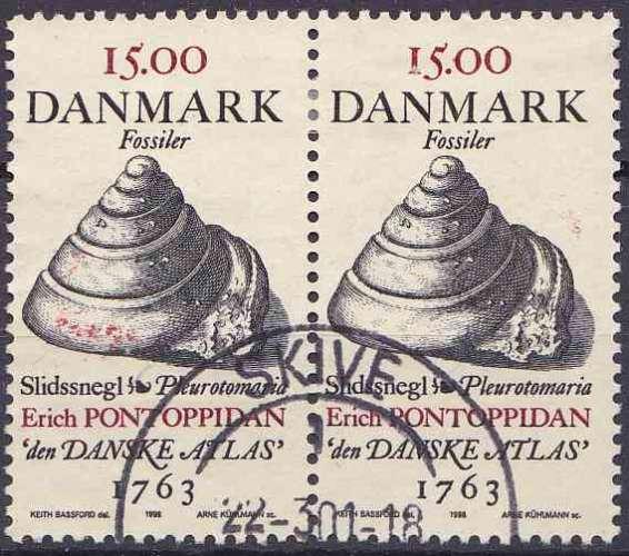 DANEMARK 1998 OBLITERE N° 1201 paire