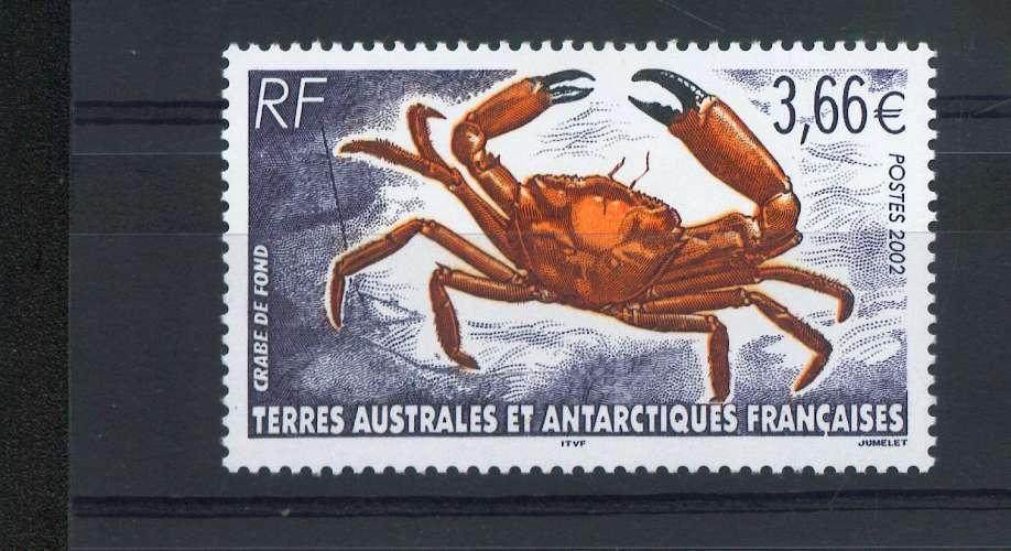 TAAF 335 crabe de fondNEUF ** luxe MNH sin charnela prix de la poste 3.66