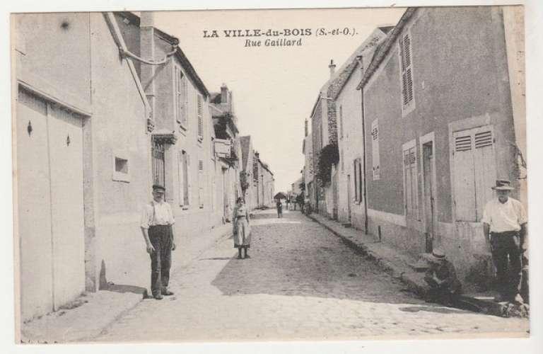 Cpa 91  La Ville du Bois  Rue Gaillard