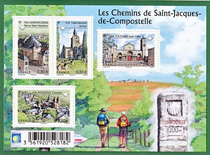 France 4725 4728 F 2013 chemins de compostelle neuf **TB MNH sin charnela prix de la poste 3.2